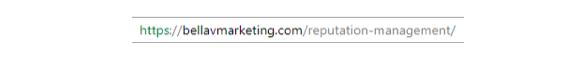 Onsite SEO URL Link Example